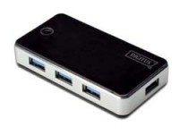 Digitus USB 3.0 Hub, 4-port schwarz