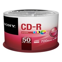 Sony CD-R, 48X, 700MB, 50 Stk.
