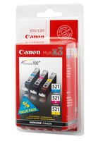 Canon CLI-521 C/M/Y PACK SEC