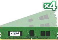 Crucial 16GB DDR4 KIT (4GBX4) 2133MT/S