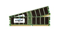 Crucial 2GB KIT (1GBX2) DDR 333MHZ