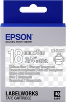 Epson TAPE - LK5TWN CLEAR WHITE