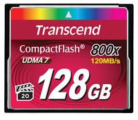 Transcend 128GB CF CARD (800X, TYPE I )