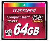 Transcend 64GB CF CARD (800X, TYPE I )