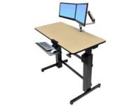 Ergotron WorkFit-D Sit-Stand Desk birch