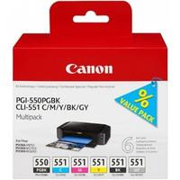 Canon PGI-550/CLI-551PGBK/C/M/Y/BK/G