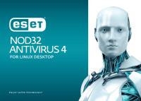 ESET NOD32 AV for Linux Desktop 4 User 1 Year Crossupdate