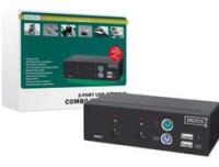 Digitus USB-PS/2 Combo-KVM Switch,2PCs