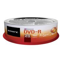 Sony DVD-R, 16X, SPINDLE-BULK 25 PC