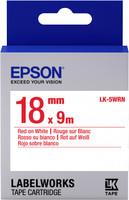 Epson TAPE - LK5WRN STD RED/WHT 18/9