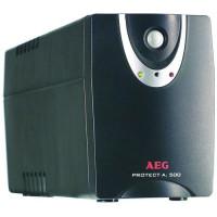 AEG Protect A.500 USV 500 VA/300 Watt Tower LineInteractive 4xIEC320 C13 2xRJ11 1xRS232 1xUSB