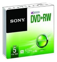 Sony DVD+RW X4 SLIMCASE, 5PCS, 4.7G