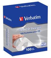 Verbatim CD-DVD PAPER SLEEVES 100 PK