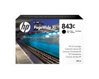 Hewlett Packard INK CARTRIDGE NO 843C BLACK