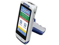 Datalogic ADC Joya Touch Plus, 2D, BT (BLE), WLAN, NFC, Gun, blau, grau, hellgrau, W