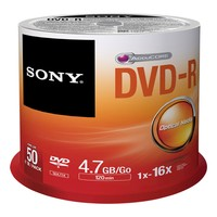 Sony DVD-R, 16X, SPINDLE 50 PCS