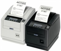 Citizen CT-S801, Ethernet, 8 Punkte/mm (203dpi), Cutter, Display, weiß
