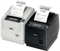 Citizen CT-S801, RS232, 8 Punkte/mm (203dpi), Cutter, Display, weiß