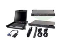 APC 2X1X16 IP KVM W/ 17IN RACK LCD