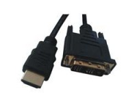 Mcab 2M HDMI to DVI-D cable - Gold