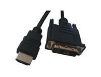 Mcab HDMI / DVI-D CABLE BLACK 2.0M