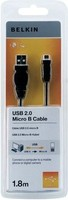 BELKIN USB MICRO-B TO USB-A CABLE 1.8
