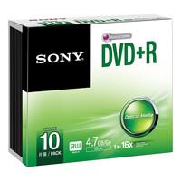 Sony DVD+R, 16X, SLIM CASE
