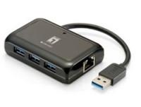 LevelOne GBIT USB NWK ADAPTER W/USB HUB