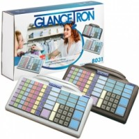 Glancetron Keyboard 8031, Num., RS232, PS/2, Kit, weiß