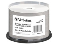 Verbatim CD-R WIDE SILVER INKJET PRINT