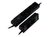 AEG Protect Twin Power 2geteilte Ueberspannungschutzleiste 4+3 Schuko 2x USB Charger