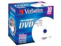 Verbatim DVD-R X10 4.7GB 16X/INKJET