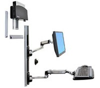 Ergotron LX ARM II WM LCD und KB WITH C