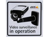 AXIS SURVEILLANCE STICKER ENG 10PCS