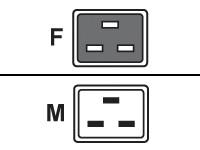 Fujitsu Netzkabel 16A IEC320 C19->C20
