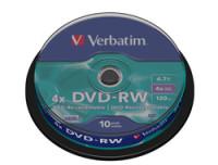 Verbatim DVD-RW 4.7GB 4X 10PK