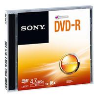 Sony DVD-R, 16X, JEWEL CASE