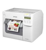 Epson ColorWorks C3500, Cutter, Disp., USB, Ethernet, NiceLabel, weiß