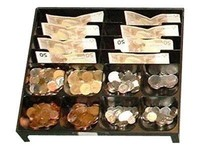 International Cash Drawer STEEL MONEY TRAY FOR EU-8/8-NO