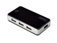 Digitus USB 2.0 7-Port Hub, schwarz