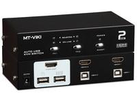 Mcab KVM, 2 PORTS, HDMI, K/B-MOUSE